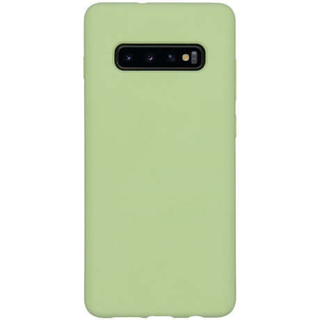 Accezz Liquid Silicone Backcover Samsung Galaxy S10 Plus - Groen (D)