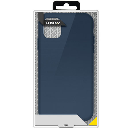 Accezz Liquid Silicone Backcover Galaxy A52(s) (5G/4G) - Donkerblauw (D)