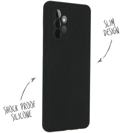 Accezz Liquid Silicone Backcover Samsung Galaxy A72 - Zwart (D)