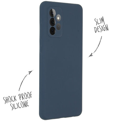 Accezz Liquid Silicone Backcover Samsung Galaxy A72 - Donkerblauw (D)