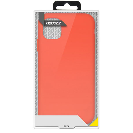 Accezz Liquid Silicone Backcover Samsung Galaxy A72 - Rood (D)