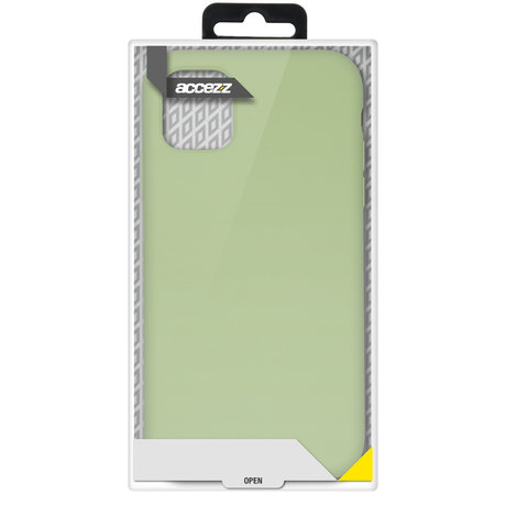Accezz Liquid Silicone Backcover Samsung Galaxy A72 - Groen (D)