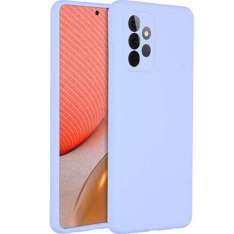 Accezz Liquid Silicone Backcover Samsung Galaxy A72 - Paars (D)