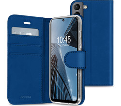 Accezz Accezz Wallet Softcase Booktype Samsung Galaxy S21 FE - Donkerblauw (D)