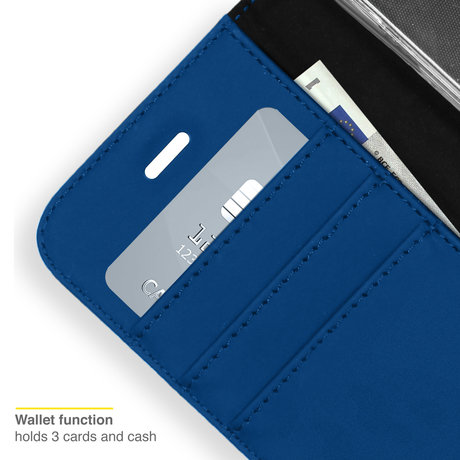 Accezz Wallet Softcase Booktype Samsung Galaxy S21 FE - Donkerblauw (D)