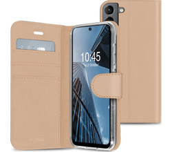 Accezz Accezz Wallet Softcase Booktype Samsung Galaxy S21 FE - Goud (D)