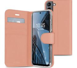 Accezz Accezz Wallet Softcase Booktype Samsung Galaxy S21 FE - Rosé Goud (D)