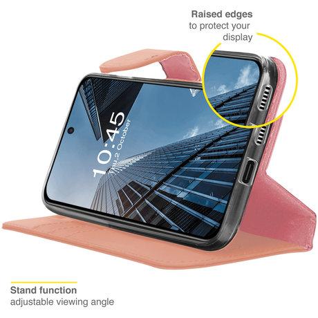 Accezz Wallet Softcase Booktype Samsung Galaxy S21 FE - Rosé Goud (D)
