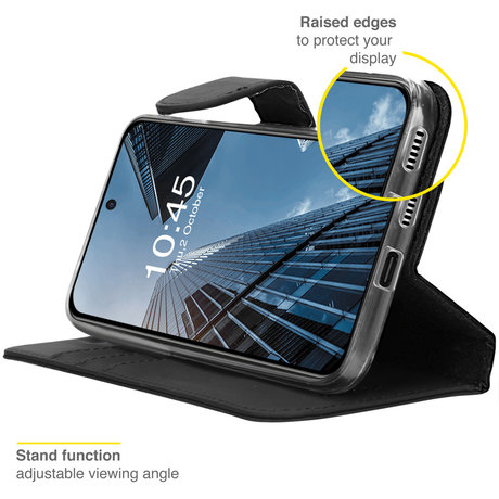 Accezz Wallet Softcase Booktype Samsung Galaxy S21 FE - Zwart (D)