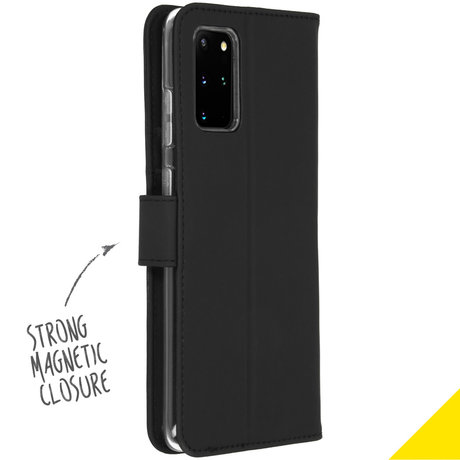 Accezz Wallet Softcase Booktype Samsung Galaxy S20 Plus - Zwart (D)