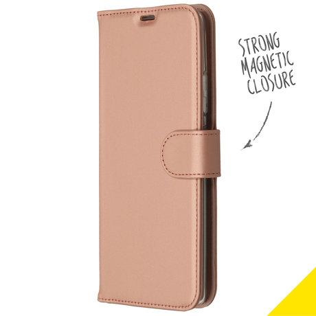 Accezz Wallet Softcase Booktype Samsung Galaxy S10 Lite - Rosé Goud (D)