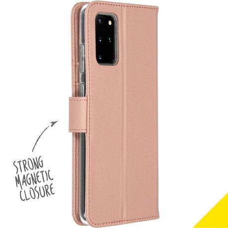 Accezz Wallet Softcase Booktype Samsung Galaxy S20 Plus - Rosé Goud (D)