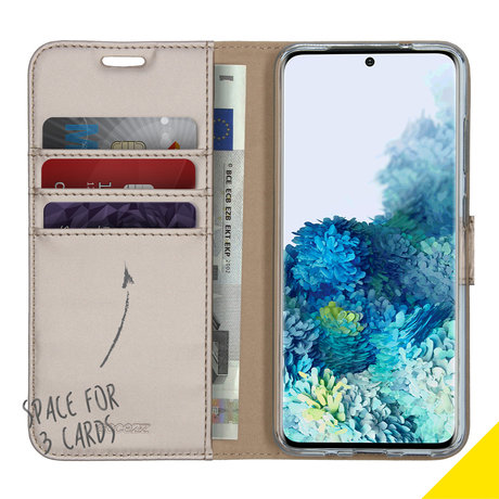 Accezz Wallet Softcase Booktype Samsung Galaxy S20 - Goud (D)