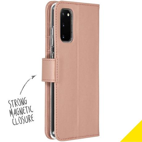 Accezz Wallet Softcase Booktype Samsung Galaxy S20 - Rosé Goud (D)