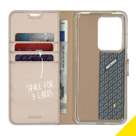 Accezz Wallet Softcase Booktype Samsung Galaxy S20 Ultra - Goud (D)