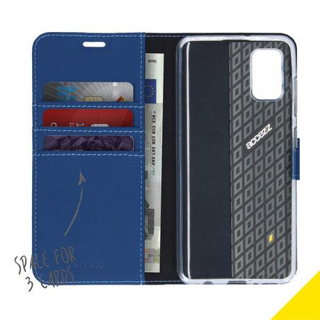 Accezz Wallet Softcase Booktype Samsung Galaxy A41 - Blauw (D)