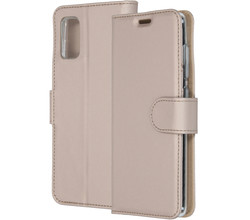 Accezz Accezz Wallet Softcase Booktype Samsung Galaxy A41 - Goud (D)