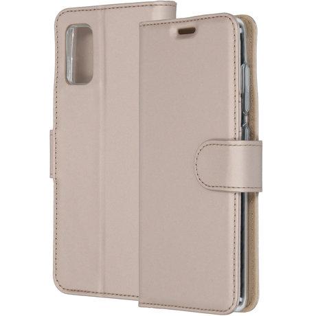 Accezz Wallet Softcase Booktype Samsung Galaxy A41 - Goud (D)