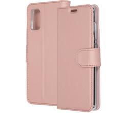 Accezz Accezz Wallet Softcase Booktype Samsung Galaxy A41 - Rosé Goud (D)