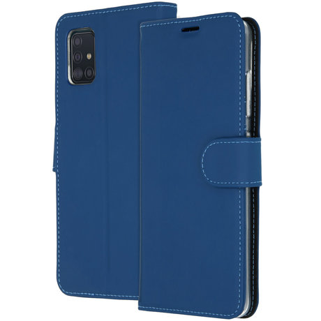 Accezz Wallet Softcase Booktype Samsung Galaxy A51 - Donkerblauw (D)