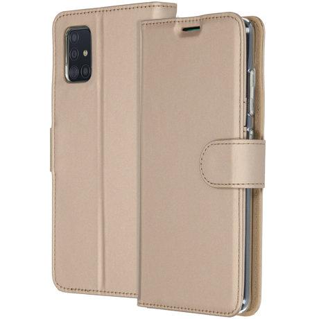 Accezz Wallet Softcase Booktype Samsung Galaxy A51 - Goud (D)