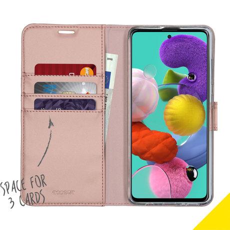 Accezz Wallet Softcase Booktype Samsung Galaxy A51 - Rosé Goud (D)