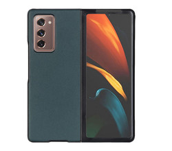 TPL Litchi Real Leather Shell Samsung Galaxy Z Fold2 - Groen (D)