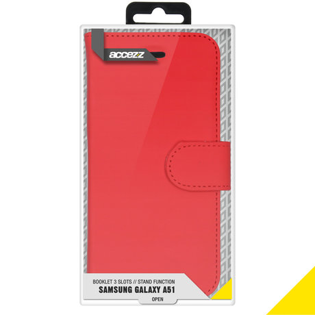 Accezz Wallet Softcase Booktype Samsung Galaxy A51 - Rood (D)