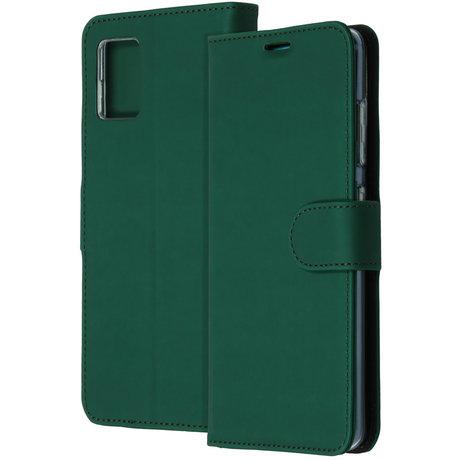Accezz Wallet Softcase Booktype Samsung Galaxy A71 - Groen (D)