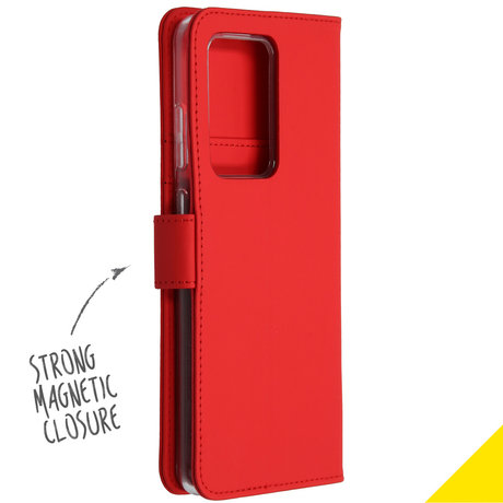 Accezz Wallet Softcase Booktype Samsung Galaxy S20 Ultra - Rood (D)
