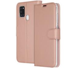 Accezz Accezz Wallet Softcase Booktype Samsung Galaxy A21s - Rosé Goud (D)