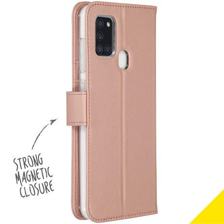 Accezz Wallet Softcase Booktype Samsung Galaxy A21s - Rosé Goud (D)