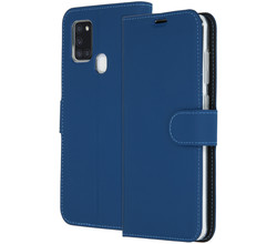 Accezz Accezz Wallet Softcase Booktype Samsung Galaxy A21s - Blauw (D)