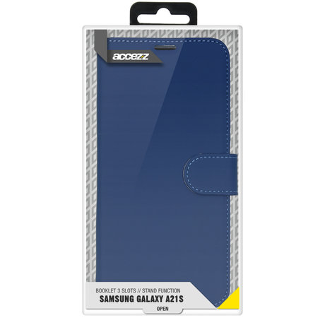 Accezz Wallet Softcase Booktype Samsung Galaxy A21s - Blauw (D)