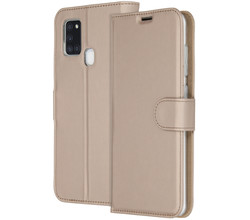 Accezz Accezz Wallet Softcase Booktype Samsung Galaxy A21s - Goud (D)