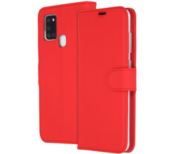 Accezz Accezz Wallet Softcase Booktype Samsung Galaxy A21s - Rood (D)