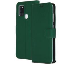 Accezz Accezz Wallet Softcase Booktype Samsung Galaxy A21s - Groen (D)