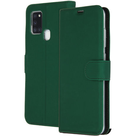 Accezz Wallet Softcase Booktype Samsung Galaxy A21s - Groen (D)
