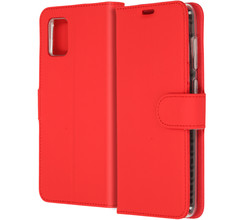 Accezz Accezz Wallet Softcase Booktype Samsung Galaxy A31 - Rood (D)