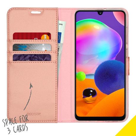 Accezz Wallet Softcase Booktype Samsung Galaxy A31 - Rosé Goud (D)
