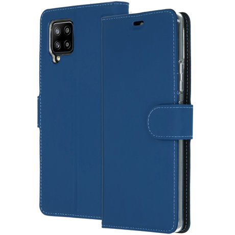 Accezz Wallet Softcase Booktype Samsung Galaxy A42 - Donkerblauw (D)