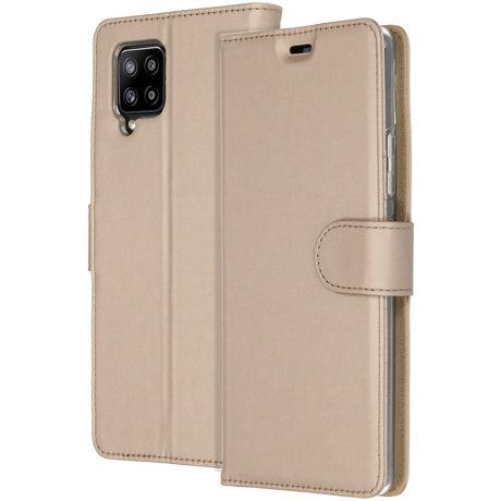 Accezz Wallet Softcase Booktype Samsung Galaxy A42 - Goud (D)