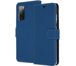 Accezz Accezz Wallet Softcase Booktype Samsung Galaxy S20 FE - Donkerblauw (D)