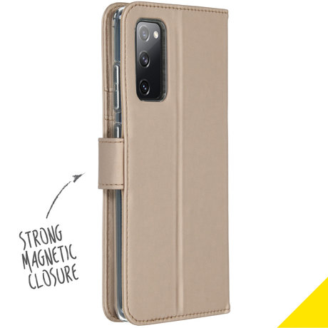 Accezz Wallet Softcase Booktype Samsung Galaxy S20 FE - Goud (D)