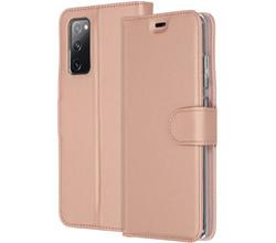Accezz Accezz Wallet Softcase Booktype Samsung Galaxy S20 FE - Rosé Goud (D)
