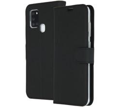 Accezz Accezz Wallet Softcase Booktype Samsung Galaxy A21s - Zwart (D)