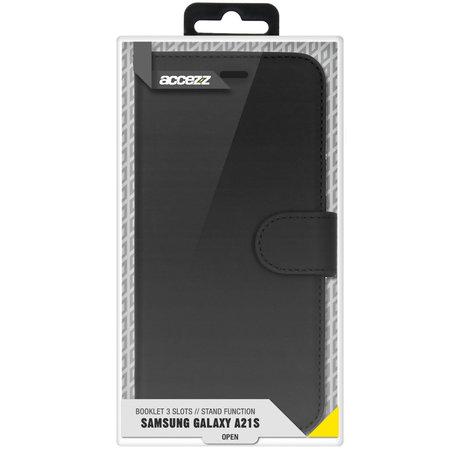 Accezz Wallet Softcase Booktype Samsung Galaxy A21s - Zwart (D)