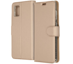 Accezz Accezz Wallet Softcase Booktype Samsung Galaxy A31 - Goud (D)