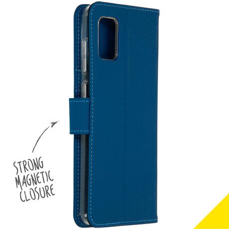 Accezz Wallet Softcase Booktype Samsung Galaxy A31 - Blauw (D)