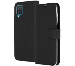 Accezz Accezz Wallet Softcase Booktype Samsung Galaxy A12 - Zwart (D)